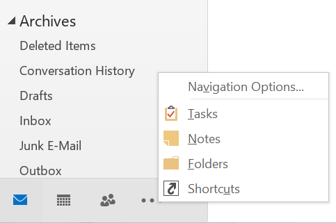 Outlook Navigation