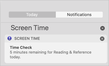 Screen Time Notifications