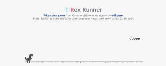 T-Rex Dino Game in Chrome