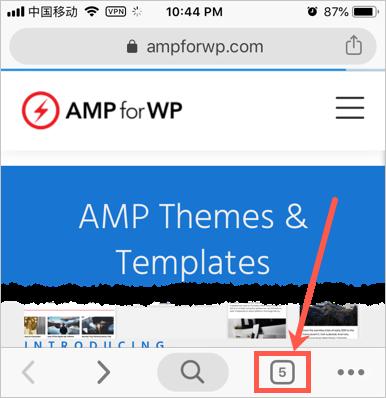 Tab Badge in Chrome Mobile App