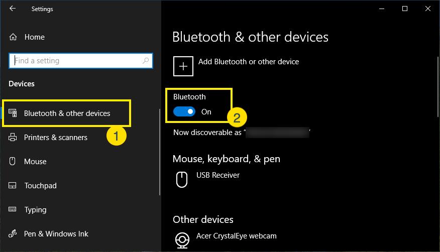 Bluetooth Turn On