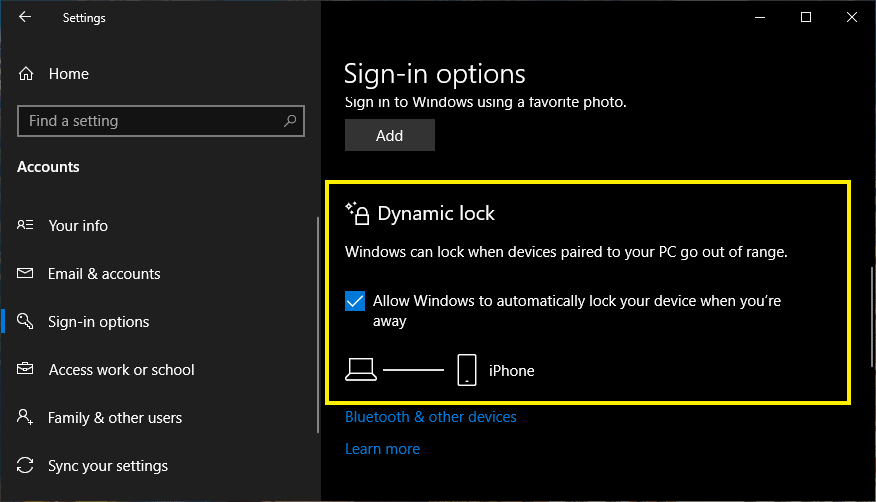 How to Setup Dynamic Lock in Windows 10? » WebNots
