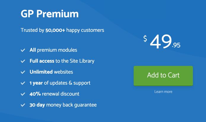GeneratePress Premium Details