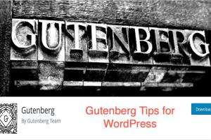 Gutenberg Tips for WordPress