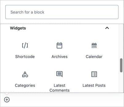 Gutenberg Widgets Blocks