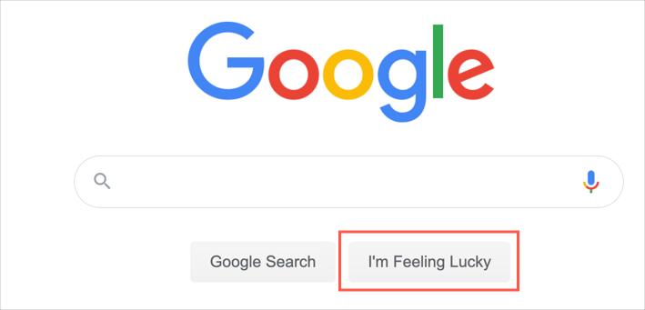 I am Feeling Lucky Button
