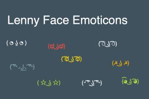 Lenny Face Emoticons