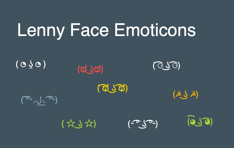 How to Type Lenny Face Emoticons with Alt Code? » WebNots