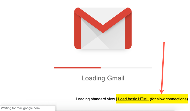Load Basic HTML View in Gmail