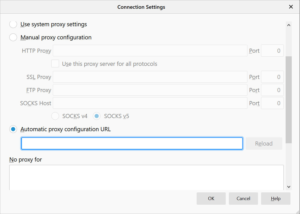 Setup Proxy in Mozilla Firefox