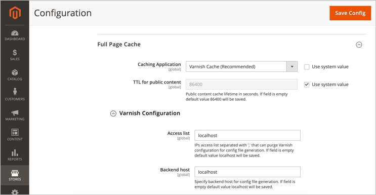 Setup Varnish Cache in Magento Store