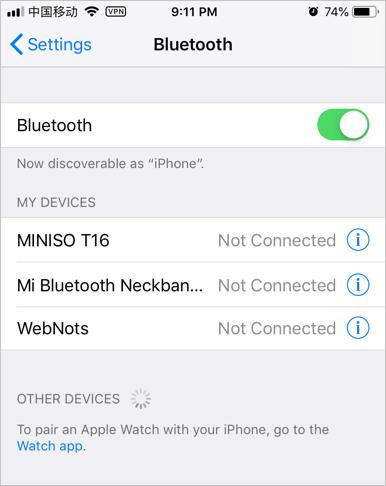 Turn On Bluetooth in Phone