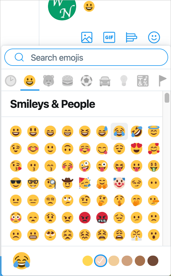 Twitter Emoji Picker