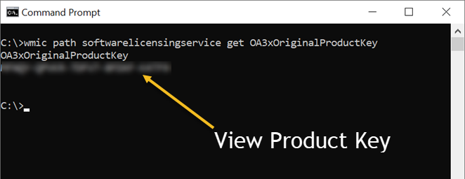 View Product Key in Windows 10