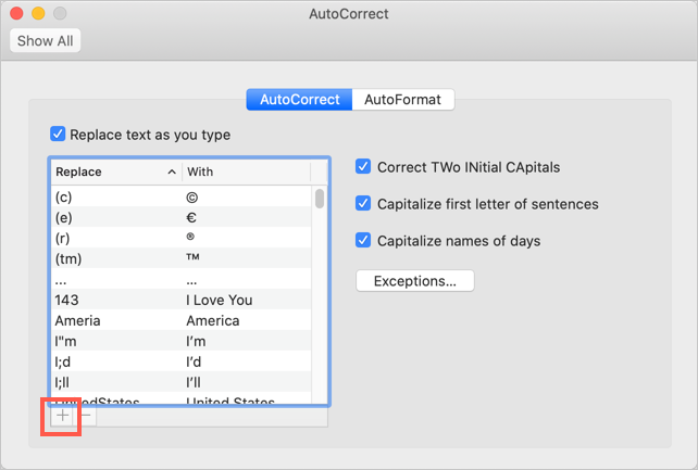 Add Emoji AutoCorrect in Mac