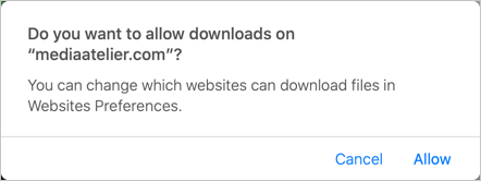 Allow Download from Website in Mac