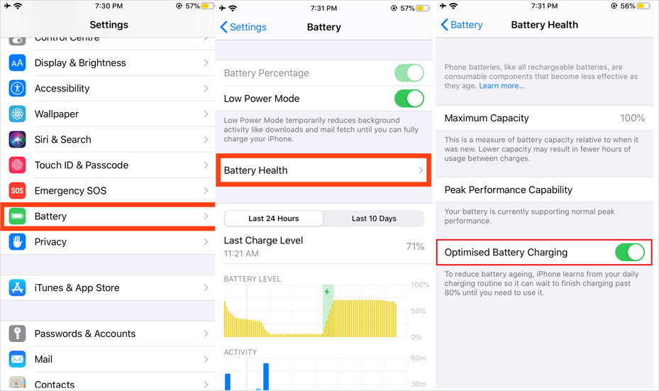 iOS 13 Battery Health