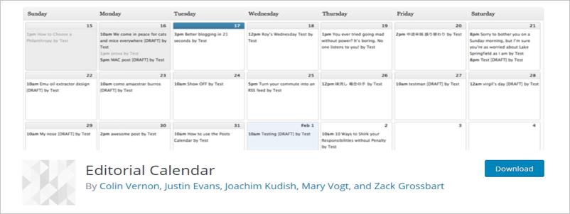 Редакционный календарь