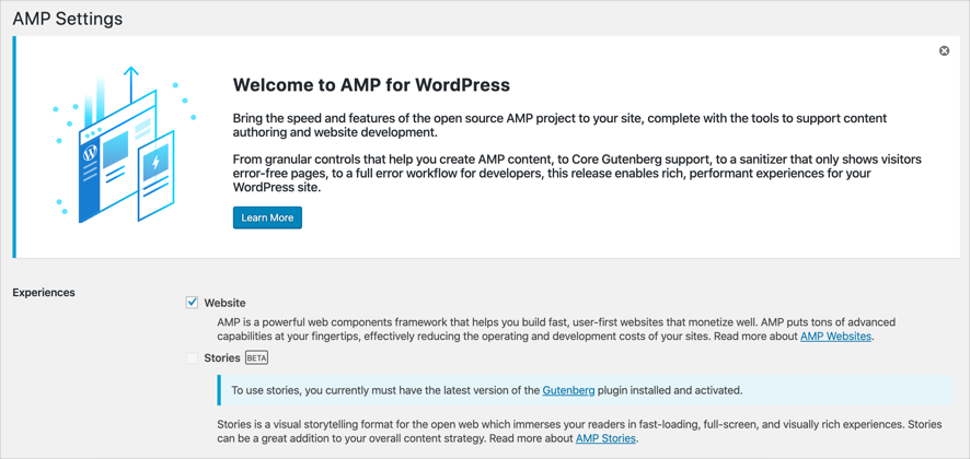 Enable AMP in WordPress Site