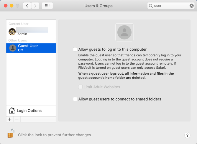 Enable Guest User Account in Mac