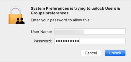 Enter Password to Unlock