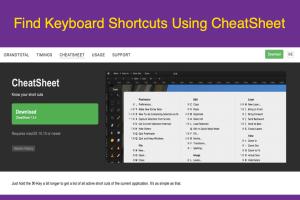 Find Keyboard Shortcuts Using CheatSheet