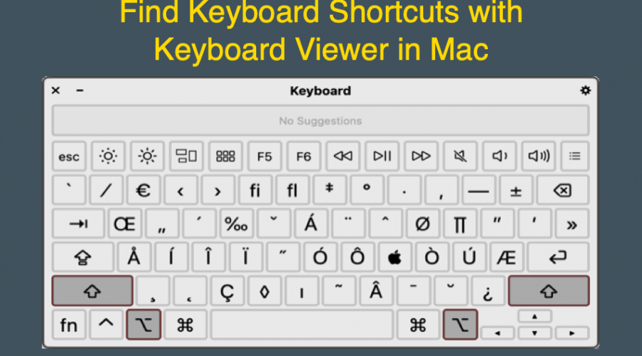 How to Use Keyboard Viewer to Find Shortcuts in Mac?