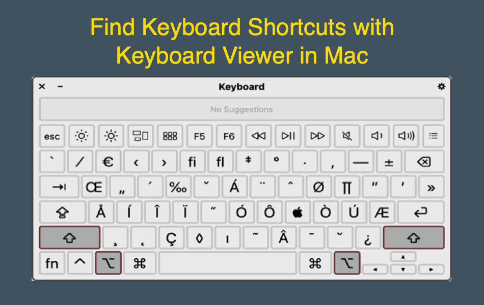 Find Keyboard Shortcuts with Keyboard Viewer in Mac