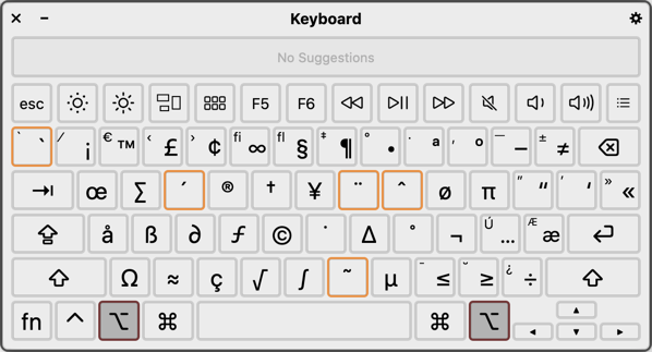 Find Option Key Shortcuts with Keyboard Viewer