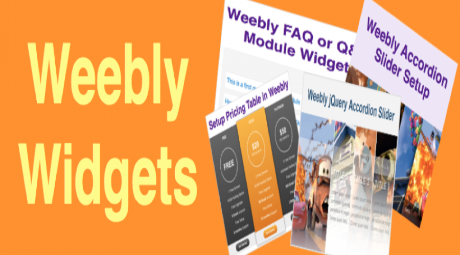 50+ Free Weebly Widgets