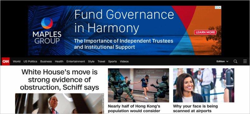 Google Ads in CNN