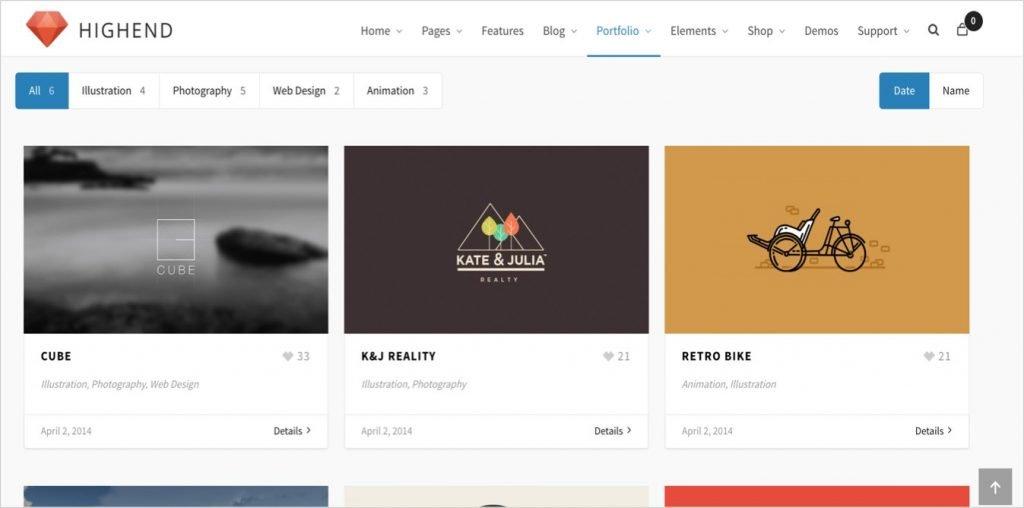 Highend WordPress Portfolio Theme