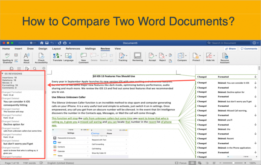 How to Compare Two Word Documents?