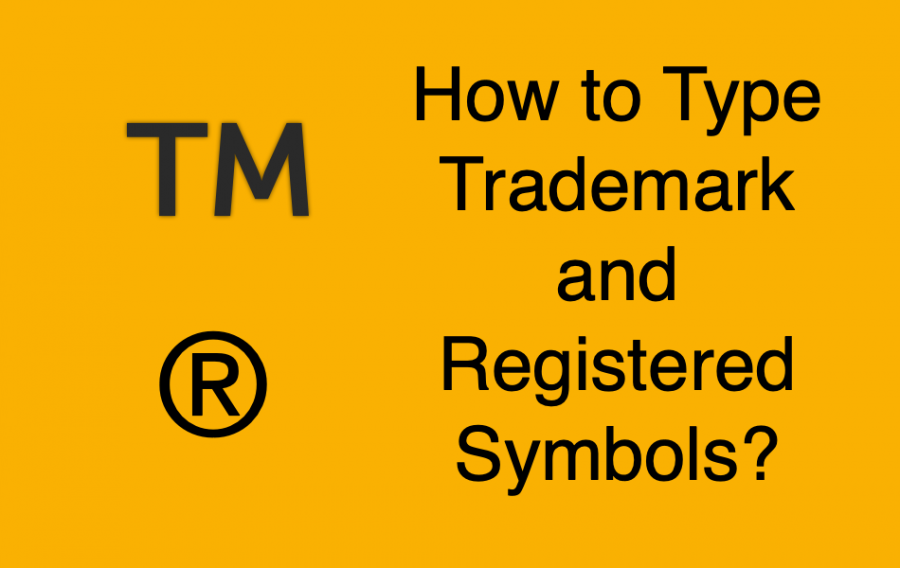 How to Type Trademark and Registered Symbols?