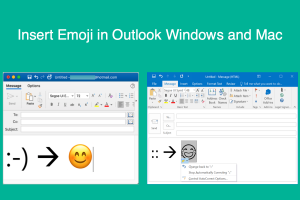Insert Emoji in Outlook Windows and Mac