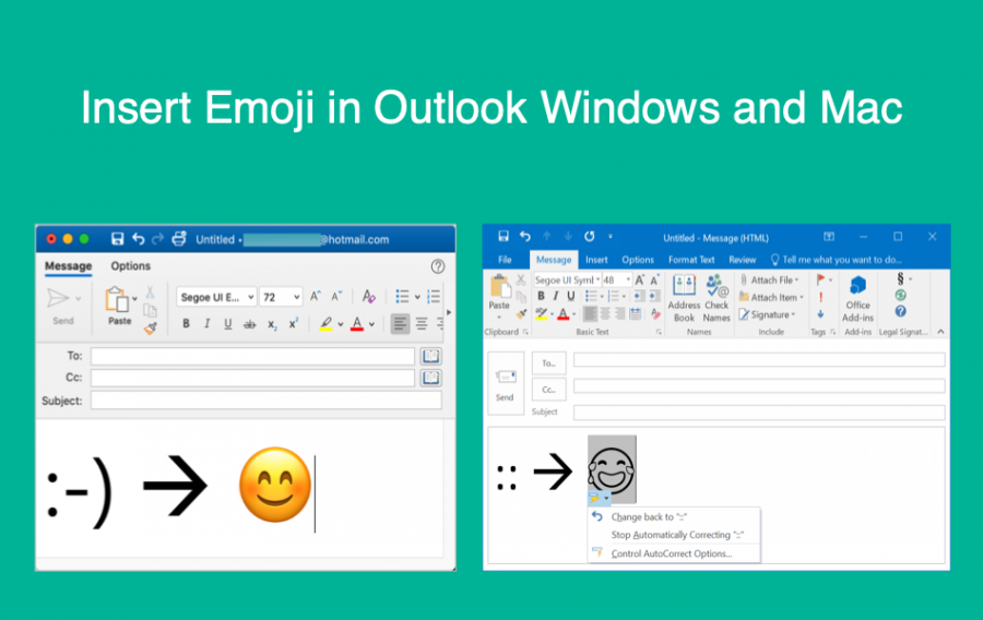 How to Insert Emoji in Outlook Windows and Mac?
