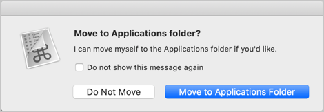 Move App to Applications Folder