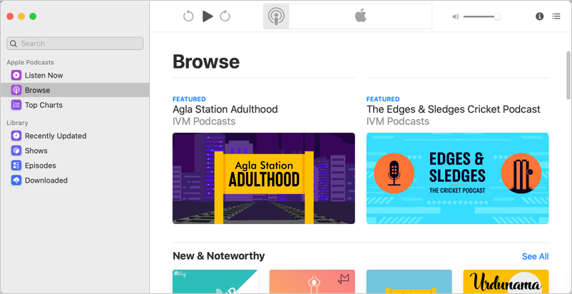 New Podcast Browse Page