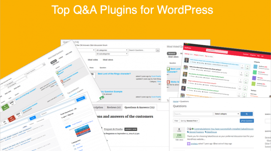 Top 6 Q&A Plugins for WordPress