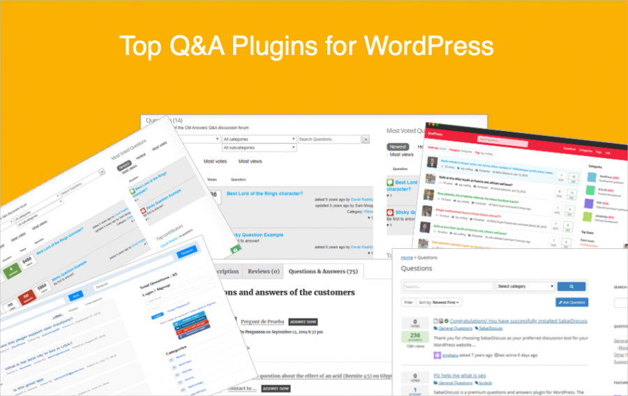 Top Q&A Plugins for WordPress