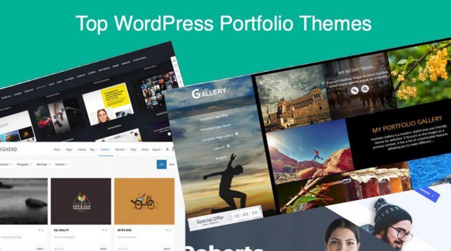 Top 7 WordPress Portfolio Themes