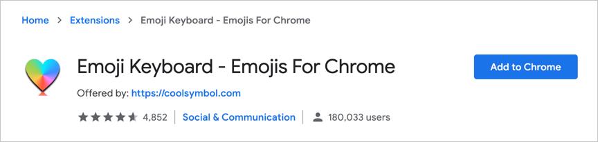 Add Emoji Keyboard to Chrome