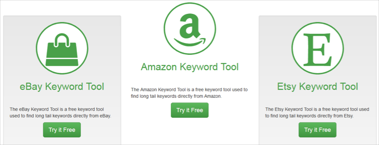 Amazon Ebay and Esty Keyword Tool Dominator