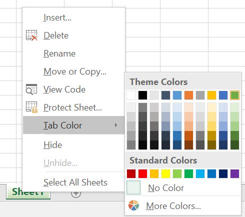 Coloring Excel Worksheets