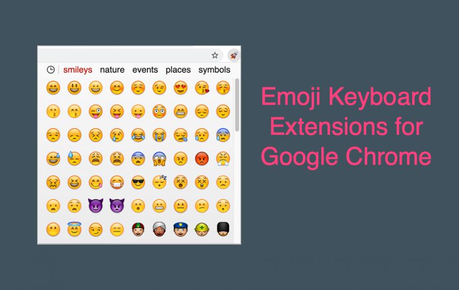 Emoji Keyboard Extensions for Google Chrome