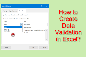 How to Create Data Validation in Excel