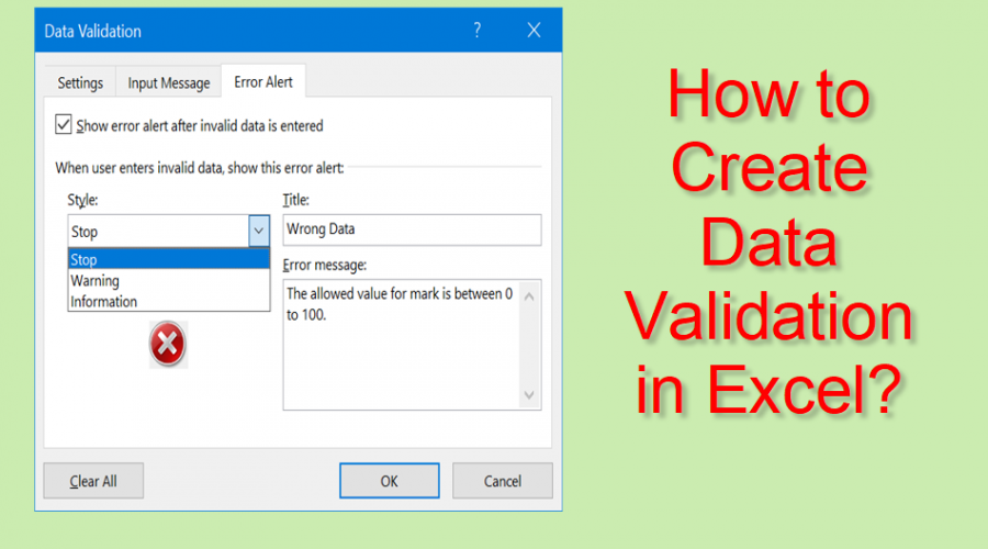 How to Create Data Validation in Microsoft Excel?