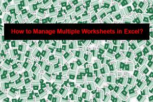 Manage Multiple Worksheets in Excel