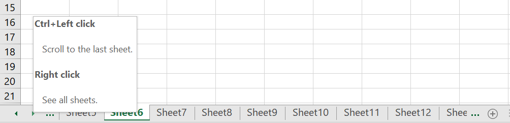 Moving Between Multiple Sheets
