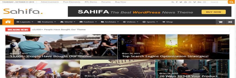 Тема журнала Sahifa
